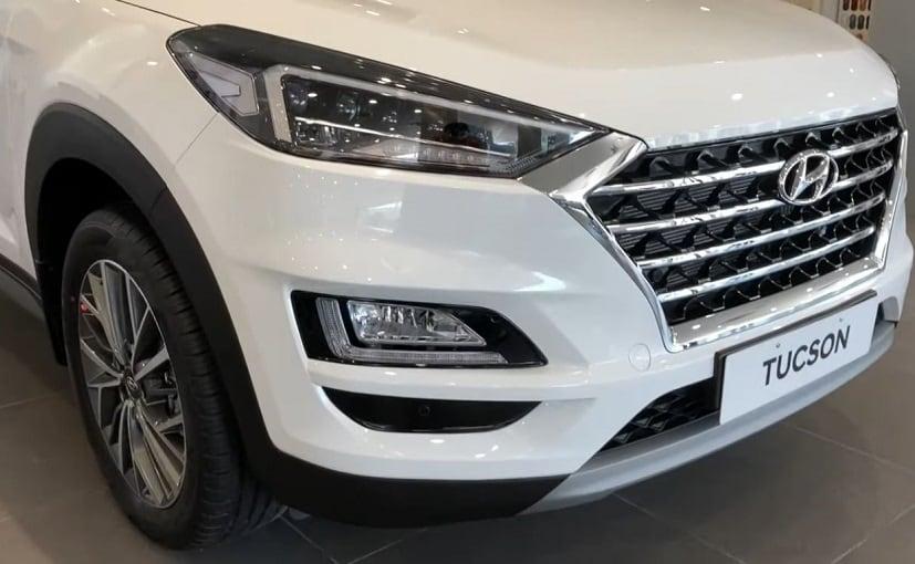 Hyundai Tucson facelift SUV was showcased at the Auto Expo 2020