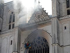 Major Fire At Famous 15th Century Cathedral In French City