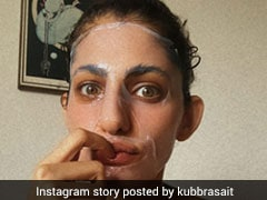 Kubbra Sait Has The Right Idea For Rainy Days With Face Masks And Hot Coffee