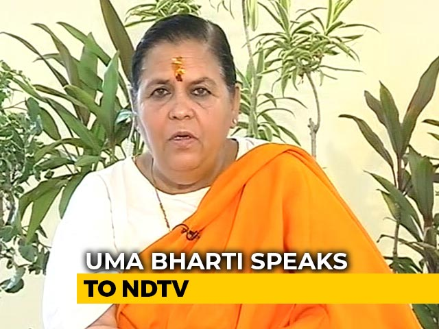 """Video : """"If I Am Sent To Gallows, I Will Be Blessed"""": Uma Bharti On Babri Case"""