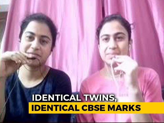 Video : Noida Twins Score Identical Marks In Class 12 CBSE Exams