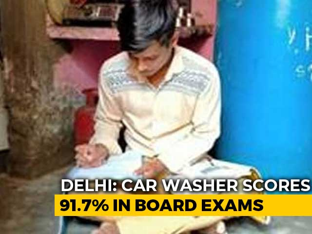 Video : He Washed Cars At 4 AM To Make Ends Meet, Scores 91.7% In Class 12
