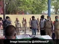 Daughter Lights Funeral Pyre Of Officer Killed In Uttar Pradesh Encounter