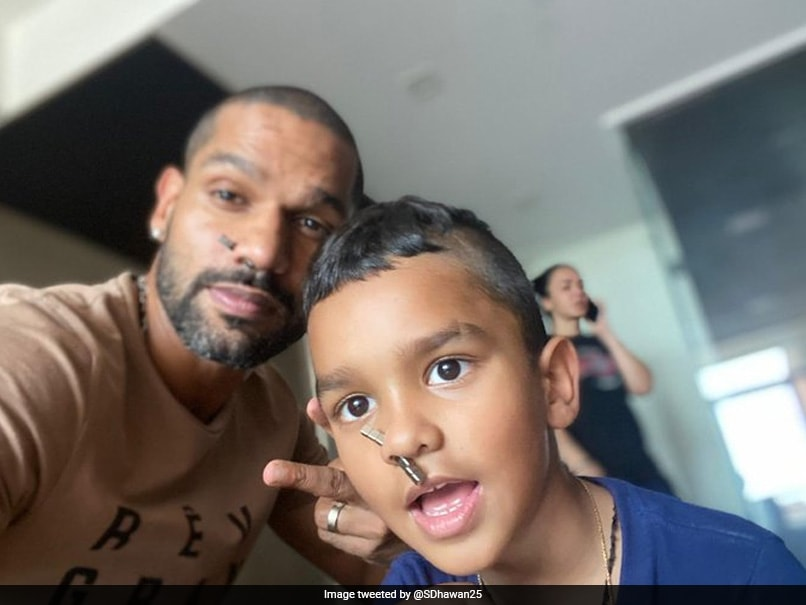 """Shikhar Dhawan And Zoraver Are Loving Their """"New Nose Rings"""" In Latest Picture"""