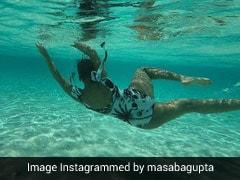 मसाबा गुप्ता ने स्विमिंग करते हुए अपनी Pic की शेयर, इस अंदाज में आईं नजर