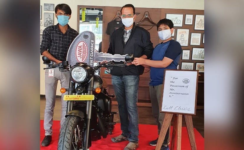 The first Jawa Perak was delivered to a customer in Hyderabad