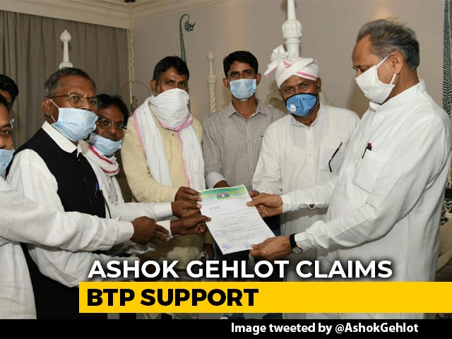 Video : Ashok Gehlot Claims Support Of 2 Regional Party MLAs Amid Congress Crisis