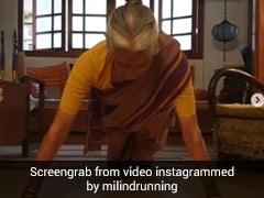 मिलिंद सोमन ने बर्थडे पर 81 साल की मां से करवाए 15 पुश अप्स, बार-बार देखा जा रहा Video