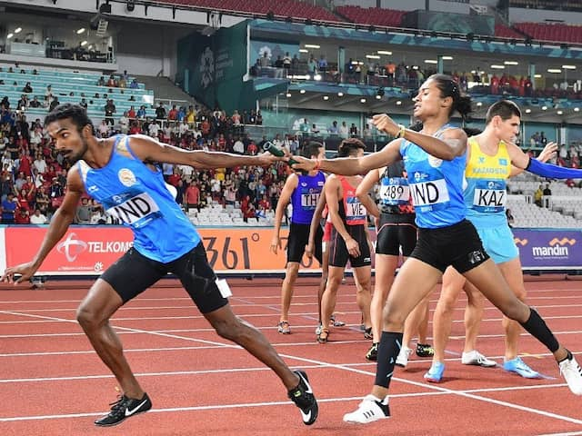 India Asian Games Relay Squad Upgraded To Gold After Bahrain Doping Ban