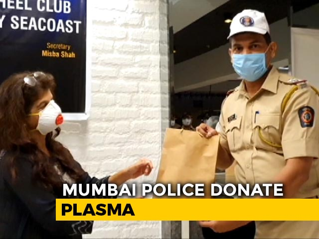 Video : Mumbai Cop Whose Mother Died Of COVID-19 Among 7 To Donate Plasma