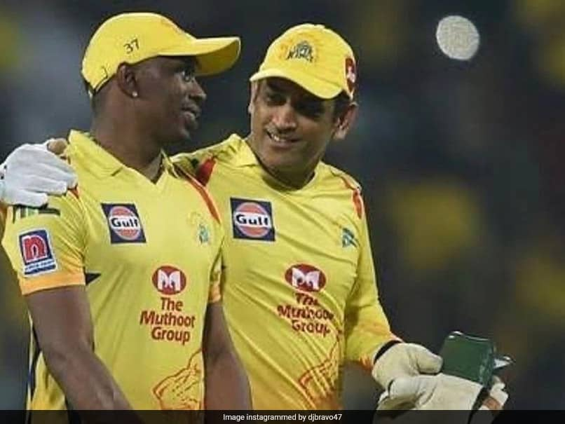 """Watch: Dwayne Bravo Gifts Birthday Boy MS Dhoni The """"Helicopter Song"""""""