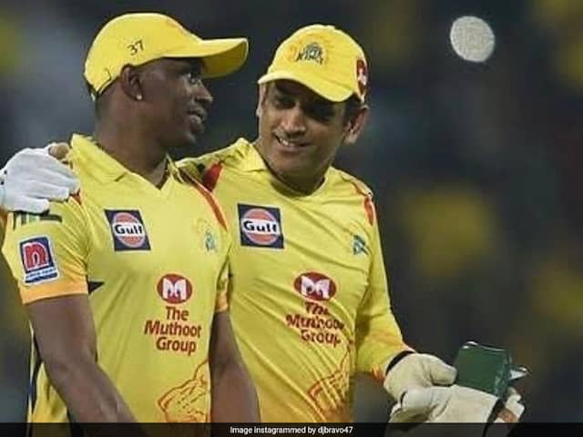 "Watch: Dwayne Bravo Gifts Birthday Boy MS Dhoni The ""Helicopter Song"""
