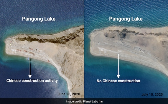 Partial Chinese Pull-Back From Fingers Area Along Pangong: Satellite Pics