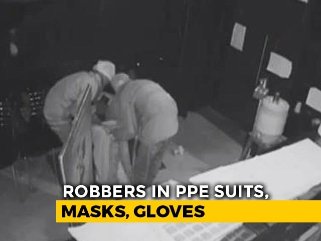 Video : Heist At Maharashtra Jewellery Store, Thieves In PPE Suits