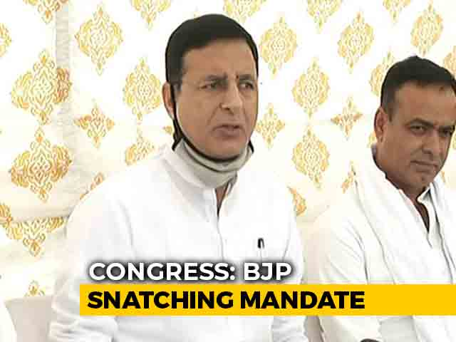 """Video : """"BJP Trying To Hijack Power Instead Of Fighting Covid,"""" Says Congress"""