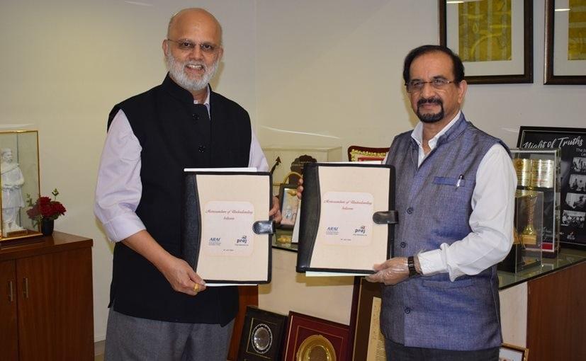 Pramod Chaudhari, Founder & Exec Chairman, Praj Industries with N V Marathe, Officiating Director, ARAI