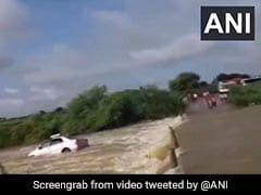 Watch: Car Washed Away In Strong Current Of An Overflowing Stream