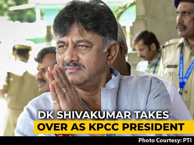 Video : Congress's DK Shivakumar Takes Charge As Karnataka Chief In Virtual Rally