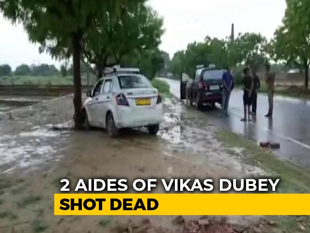 Video : Wanted UP Gangster Vikas Dubey's Aides Shot Dead In Encounters