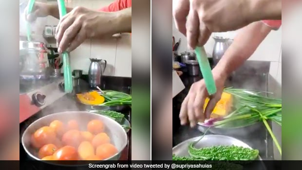 Viral Video: Man Uses Steam From Pressure Cooker To Sanitise Vegetables Amid Covid-19