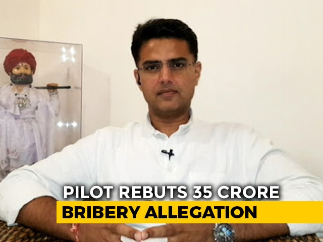"Video : On MLA's ""35-Crore Bribe"" Claim, Sachin Pilot Says ""Vexatious, Concocted"""