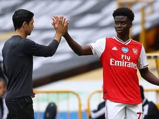 Bukayo Sakas First Premier League Goal Keeps Arsenal In Euro Race