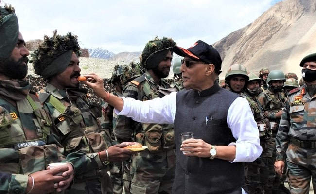 'Witnessed Fire And Fury Of Indian Army': Rajnath Singh In Leh