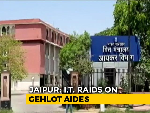 Video: 2 Ashok Gehlot Aides Raided In Jaipur Amid Rajasthan Congress Turmoil