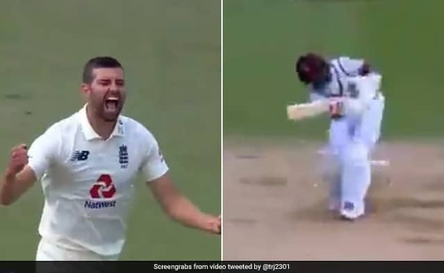 ENG vs WI 1st Test day 5 Beauty from Mark Wood to dismiss Shai Hope Watch video