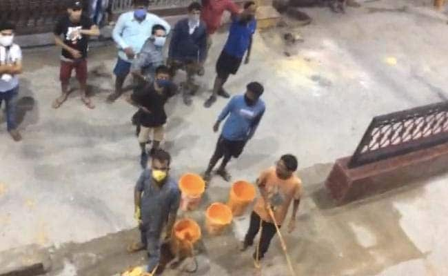 Homes Painted Saffron In Street In UP City, Case Filed, Minister Defends