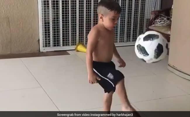 Harbhajan Singh Shares Video Of Young Boy Doing Kick-Ups Watch Video