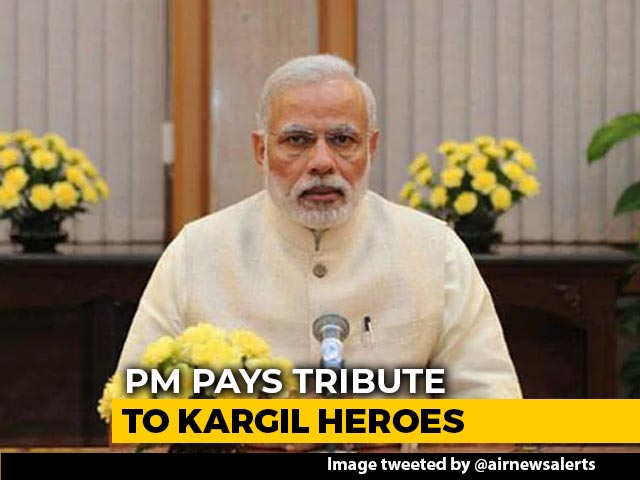 "Video : Pakistan Tried To ""Backstab"" India: PM During Tribute To Kargil Heroes"