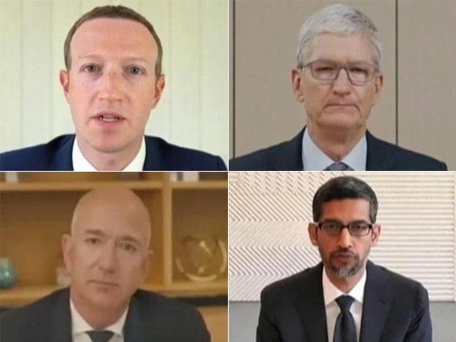 Video : 4 Global Tech Firms' CEOs Appear Before Washington Lawmakers
