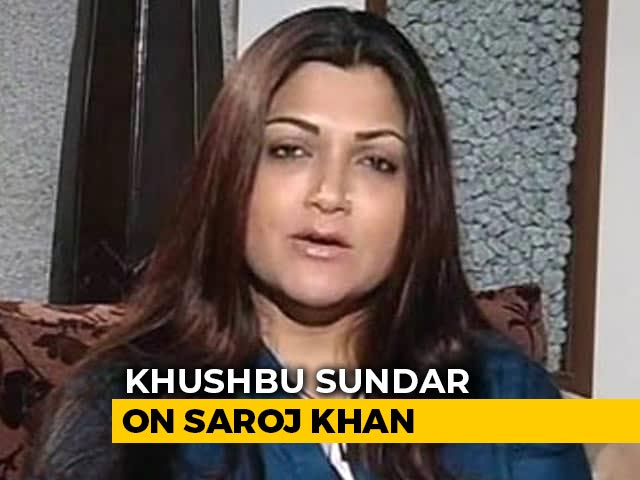 Saroj Khan Choreographed One Of The Biggest Songs Of My Career: Khushbu Sundar