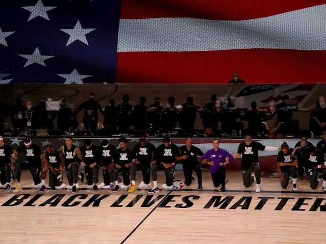 Players Take A Knee As NBA Restarts In Florida