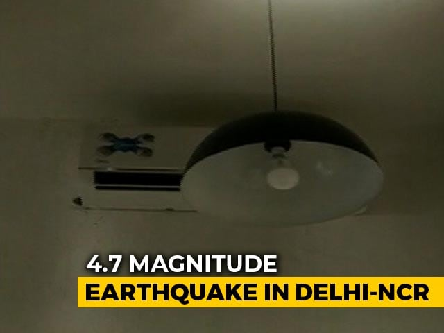 Video : 4.7 Earthquake Near Delhi, Strong Tremors Felt For Many Seconds