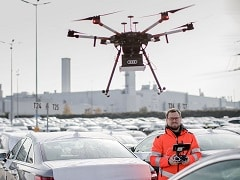 Audi Uses Drones For Efficient Car Despatch Process At Neckarsulm Factory In Germany