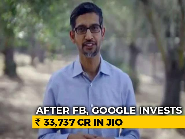 Video : Our Investment Of $4.5 Billion Is Biggest In India: Sundar Pichai