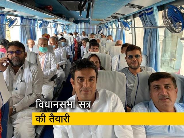 Videos : जयपुर से जैसलमेर ले जाए गए MLA