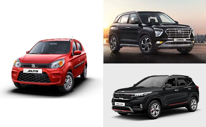 The Alto, Creta and Seltos were the top 3 selling cars in June 2020