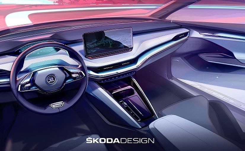 The interior of the Skoda Enyaq iV will be draped in soft touch materials.