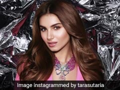 Tara Sutaria Dazzles In Pink With Matching Baubles And Brown Waves To Boot