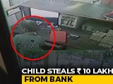 Video : Caught On CCTV: Child Steals Rs 10 Lakh From Bank In Madhya Pradesh | NDTV Beeps