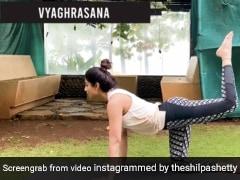 शिल्पा शेट्टी, पीठ की मांसपेशियों को मजबूत बनाने वाले योगासन करते हुए आईं नजर, 5 लाख से ज्यादा बार देखा गया Video