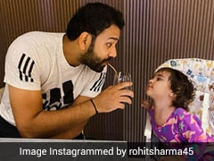 "Rohit Sharma's Mornings With His ""Munchkin"" Is The Cutest Thing You'll See"