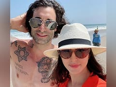 Pics From Sunny Leone's Beach Outing With Husband Daniel Weber And Kids