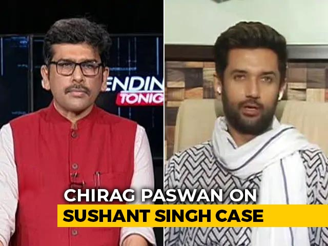 Video : Ally Chirag Paswan Needles Nitish Kumar On Sushant Rajput Death Probe