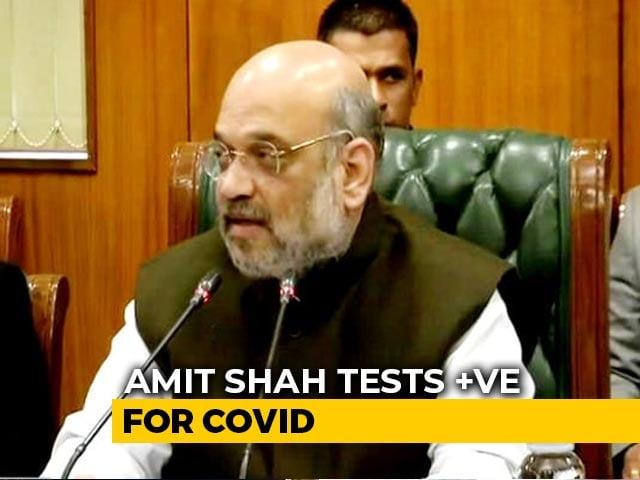 Video : Tested Positive For Coronavirus, Hospitalised, Tweets Amit Shah