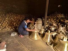 UP Artists Cast 2.1-Tonne Brass Bell For Ram Temple