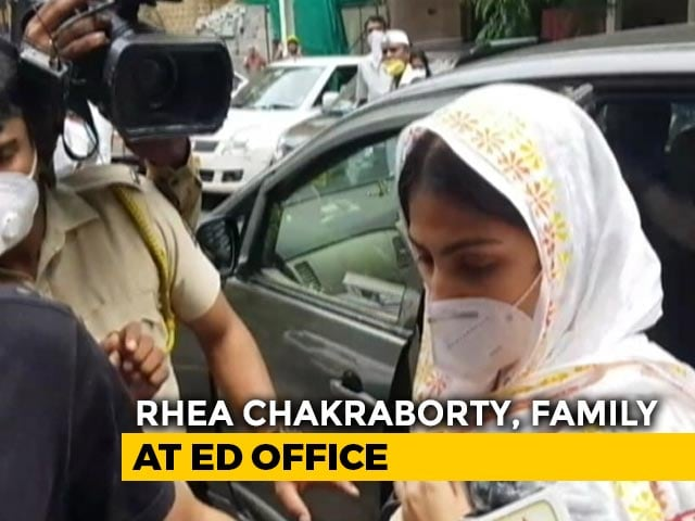 Video: Rhea Chakraborty, Family At Probe Agency For Round 2 Of Questioning